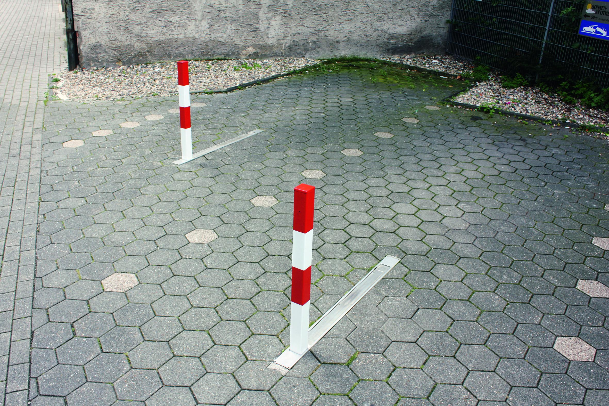 Absperrpfosten Poller Pfosten Schranken Parkplatzsperre umlegbar 90 cm Höhe